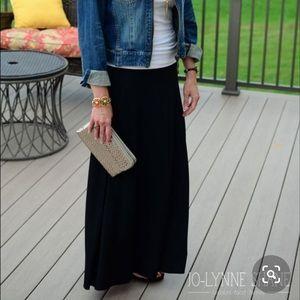 Ann Taylor black maxi skirt